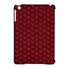 RED REPTILE SKIN Apple iPad Mini Hardshell Case (Compatible with Smart Cover)