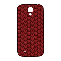 RED REPTILE SKIN Samsung Galaxy S4 I9500/I9505  Hardshell Back Case