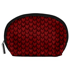 RED REPTILE SKIN Accessory Pouches (Large)