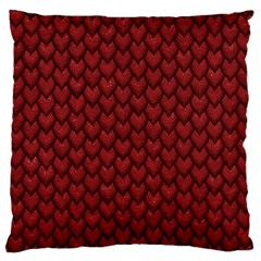 RED REPTILE SKIN Standard Flano Cushion Cases (One Side)