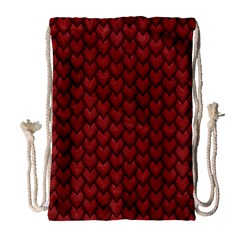 RED REPTILE SKIN Drawstring Bag (Large)