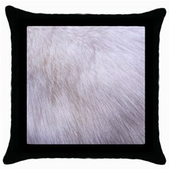 RABBIT FUR Throw Pillow Cases (Black)