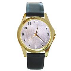 RABBIT FUR Round Gold Metal Watches