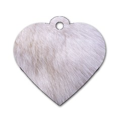 RABBIT FUR Dog Tag Heart (One Side)