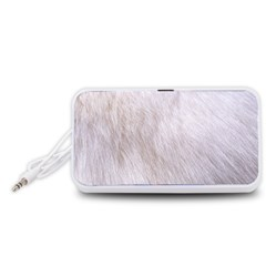RABBIT FUR Portable Speaker (White)