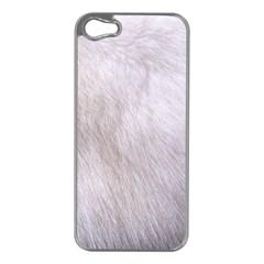 RABBIT FUR Apple iPhone 5 Case (Silver)