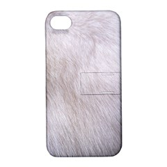 RABBIT FUR Apple iPhone 4/4S Hardshell Case with Stand
