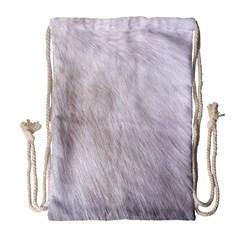 Rabbit Fur Drawstring Bag (large)