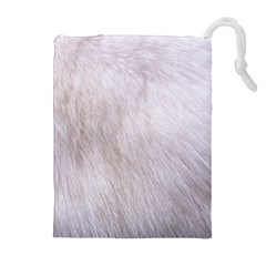RABBIT FUR Drawstring Pouches (Extra Large)