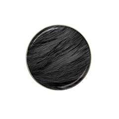 LONG HAIRED BLACK CAT FUR Hat Clip Ball Marker