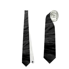 Long Haired Black Cat Fur Neckties (two Side)