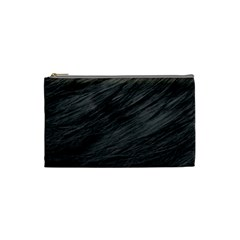 LONG HAIRED BLACK CAT FUR Cosmetic Bag (Small)