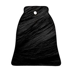 Long Haired Black Cat Fur Bell Ornament (2 Sides)
