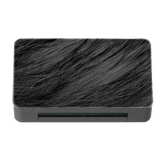 LONG HAIRED BLACK CAT FUR Memory Card Reader with CF