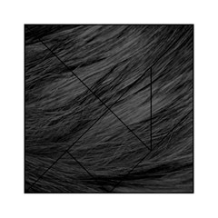 LONG HAIRED BLACK CAT FUR Acrylic Tangram Puzzle (6  x 6 )