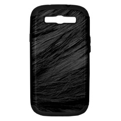 LONG HAIRED BLACK CAT FUR Samsung Galaxy S III Hardshell Case (PC+Silicone)