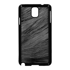 LONG HAIRED BLACK CAT FUR Samsung Galaxy Note 3 Neo Hardshell Case (Black)