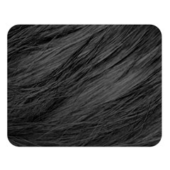 LONG HAIRED BLACK CAT FUR Double Sided Flano Blanket (Large)