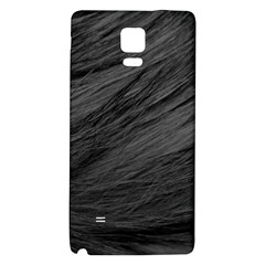 LONG HAIRED BLACK CAT FUR Galaxy Note 4 Back Case