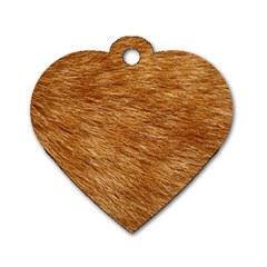 LIGHT BROWN FUR Dog Tag Heart (Two Sides)