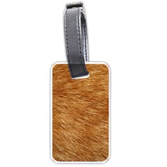 LIGHT BROWN FUR Luggage Tags (One Side)