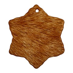 LIGHT BROWN FUR Snowflake Ornament (2-Side)