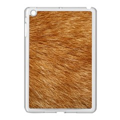 LIGHT BROWN FUR Apple iPad Mini Case (White)