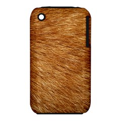 LIGHT BROWN FUR Apple iPhone 3G/3GS Hardshell Case (PC+Silicone)