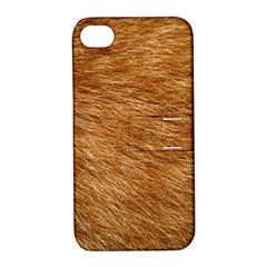LIGHT BROWN FUR Apple iPhone 4/4S Hardshell Case with Stand