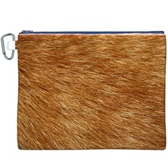 LIGHT BROWN FUR Canvas Cosmetic Bag (XXXL)