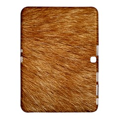 LIGHT BROWN FUR Samsung Galaxy Tab 4 (10.1 ) Hardshell Case