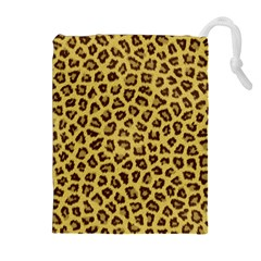 Leopard Fur Drawstring Pouches (extra Large)