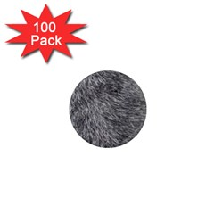 GREY WOLF FUR 1  Mini Magnets (100 pack)