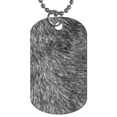 GREY WOLF FUR Dog Tag (Two Sides)
