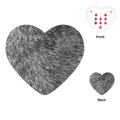 GREY WOLF FUR Playing Cards (Heart)