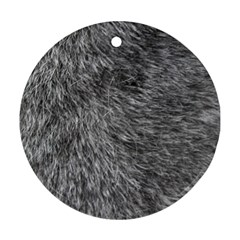 GREY WOLF FUR Round Ornament (Two Sides)