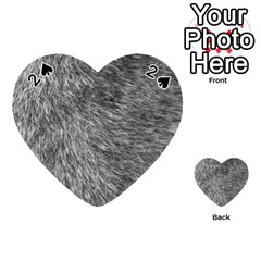 Grey Wolf Fur Playing Cards 54 (heart)