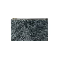 Grey Wolf Fur Cosmetic Bag (small)