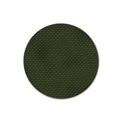 GREEN REPTILE SKIN Rubber Coaster (Round)