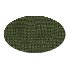 GREEN REPTILE SKIN Oval Magnet