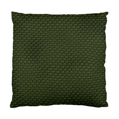 GREEN REPTILE SKIN Standard Cushion Case (One Side)