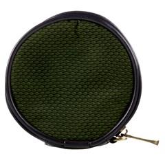 Green Reptile Skin Mini Makeup Bags