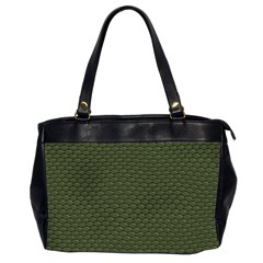 GREEN REPTILE SKIN Office Handbags (2 Sides)
