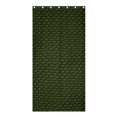 GREEN REPTILE SKIN Shower Curtain 36  x 72  (Stall)