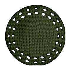 GREEN REPTILE SKIN Ornament (Round Filigree)