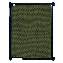GREEN REPTILE SKIN Apple iPad 2 Case (Black)
