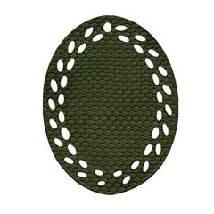 Green Reptile Skin Ornament (oval Filigree)