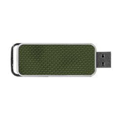 GREEN REPTILE SKIN Portable USB Flash (One Side)