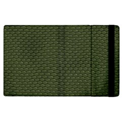 GREEN REPTILE SKIN Apple iPad 3/4 Flip Case