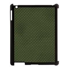 GREEN REPTILE SKIN Apple iPad 3/4 Case (Black)